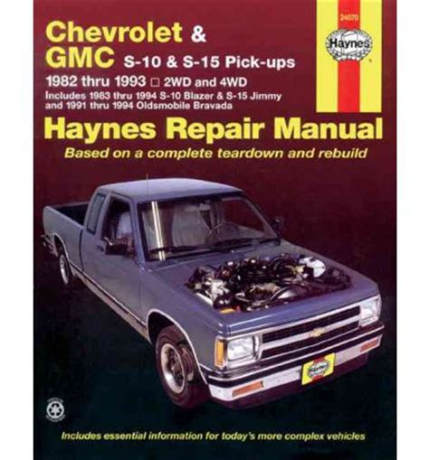 free car repair manuals 1992 oldsmobile bravada electronic chevrolet s 10 gmc s 15 and olds bravada automotive repair manual sagin workshop car manuals