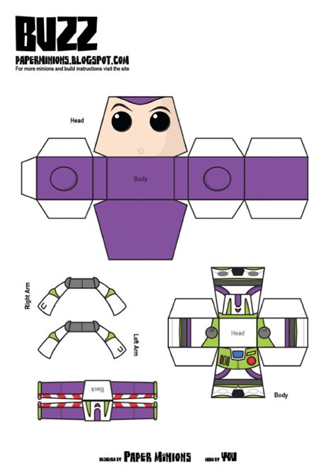 woody template woody buzz de paper minions disney buzz lightyear and