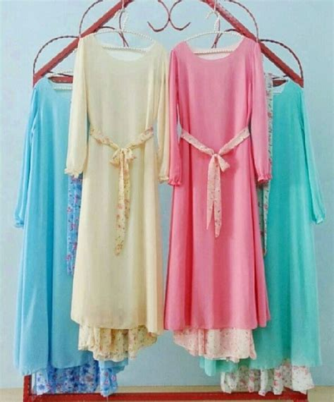 Dress Muslim Hana dress muslimah cantik ribbon dress