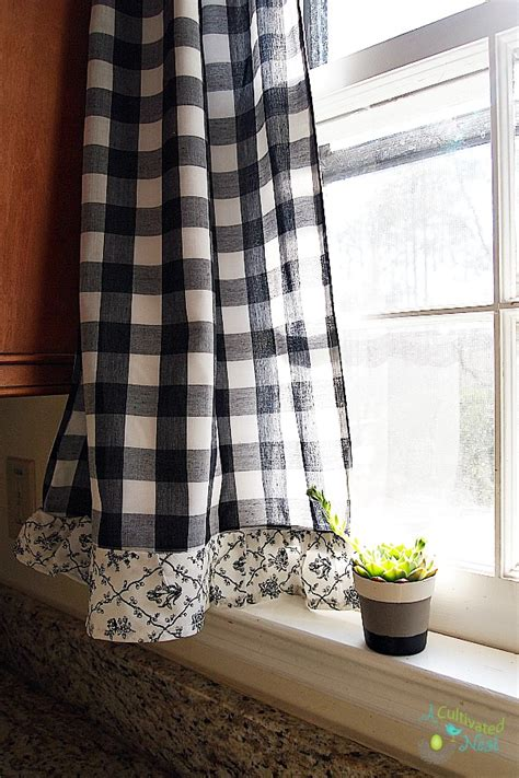 curtains black and white pattern gopelling net black and white toile kitchen curtains gopelling net