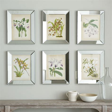 Ballard Designs Reviews orchids in mirror frame contemporary prints and