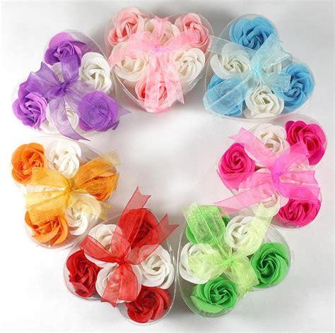 Bridal Shower Giveaway Gifts - rose petal soap valentine wedding guest giveaway bridal shower keepsake baby shower