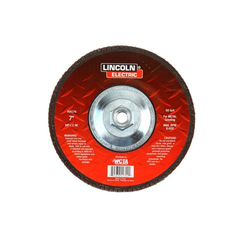 Kh Heating And Plumbing by Lincoln Electric 7 In 60 Grit Flap Disc Kh174 The Home