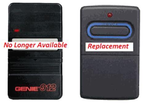 Genie 912 Garage Door Opener Genie Gt912 Transmitter For 390hmz Garage Door Openers 35673r