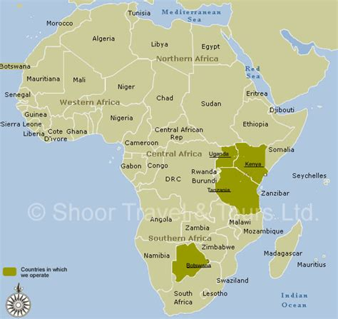 68 africa map maps update 800600 tourist attractions map in africa