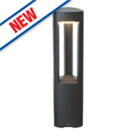 Saxby Tribeca Textured Dark Grey Led Post Light 400lm 10w Screwfix Outdoor Lighting