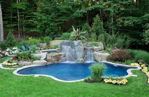 landscape around pool backyard landscaping ideas natural pools shaping an