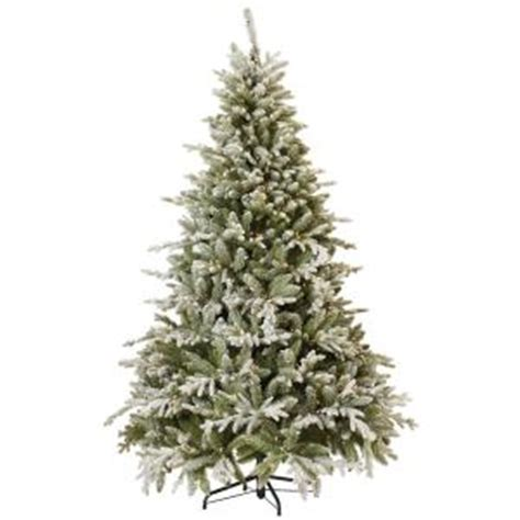 martha stewart living 7 5 ft indoor pre lit snowy cambridge fir artificial tree with