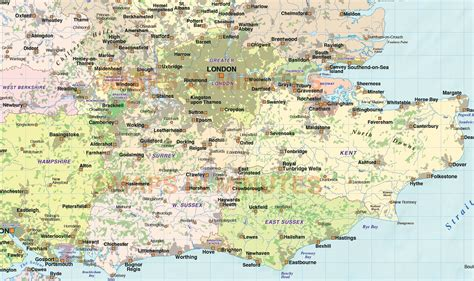 printable road map of southern england road map of southern england