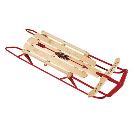 flexible flyer 48 in flexible flyer steel runner sled