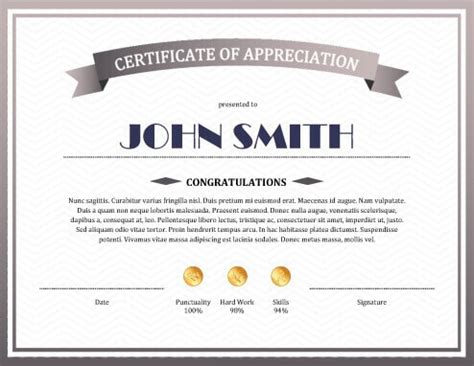 8 free printable certificates of appreciation templates