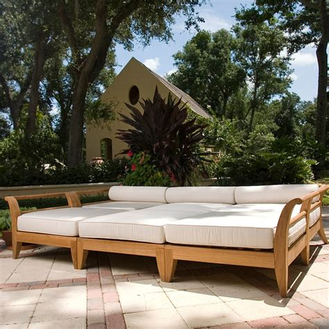 Daybed Outdoor Furniture Teak Seating Daybed Westminster Teak Outdoor Furniture