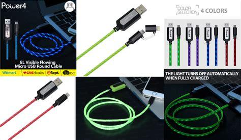 Taffware Luminous Conector Lightning 8 Pin Usb Cable Io Berkualitas 2in1 charging sync brand new universal flash usb cable