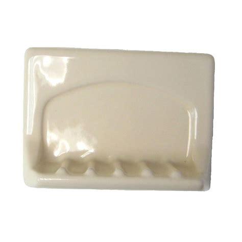 lenape wall mounted bone ceramic tub soap dish 197517