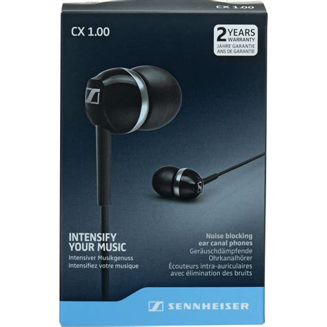 Sennheiser Cx 1 00 sennheiser cx 1 00 earphones black 506083 b h photo