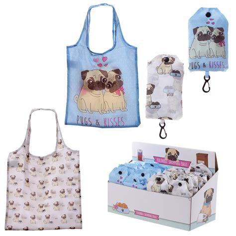 pug shopping bag handy fold up pug design shopping bag with holder lumomu
