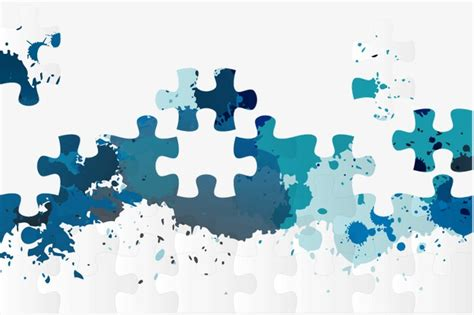 puzzle design elements vector jigsaw background layout element puzzle png and vector