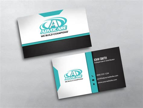 advocare business cards template advocare business card 19