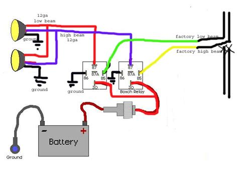 Bell Hella wiring diagram for a 5 pin relay get free image about