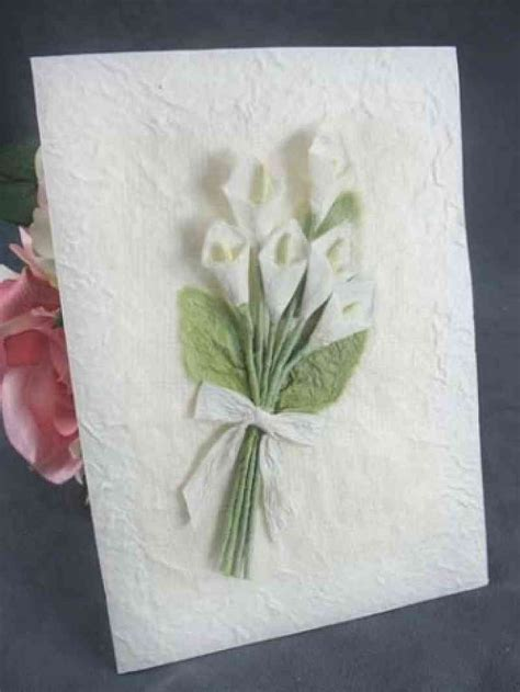 Calla Lily Bouquet Thank You Note Card   Wedding Collectibles
