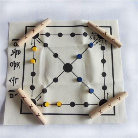Buy Chess Set by Korean Tranditional Wood Board Game Set Yut Nori
