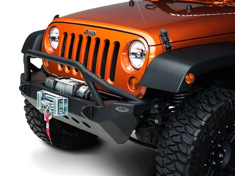 jeep armor bumper smittybilt wrangler xrc armor front bumper 76806 07 17