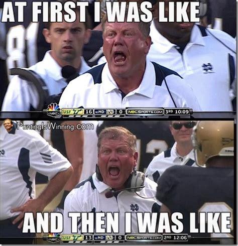 Notre Dame Football Memes - image gallery notre dame football memes