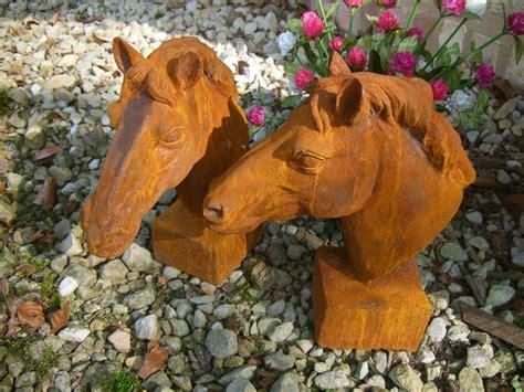 gartendeko sale pferdekopf skulptur f 252 r pfosten und mauerpfeiler