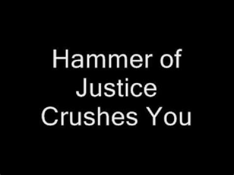 justice lyrics and justice for all lyrics