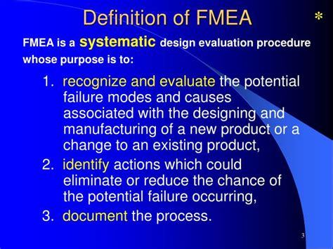 design fmea definition ppt failure mode and effect analysis powerpoint