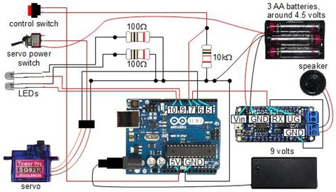 arduinoadafruit audio fx sound board controlled skull scareduino