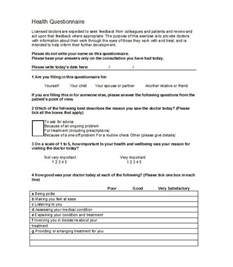 free questionnaire template 33 free questionnaire templates word free template