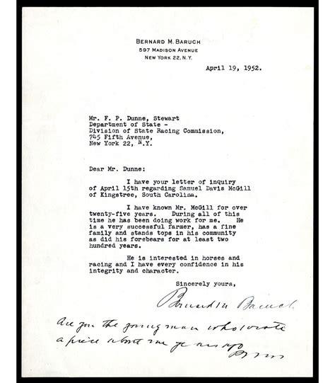 Activity 21 Business Letterhead 1 bernard baruch signature on his personal letterhead