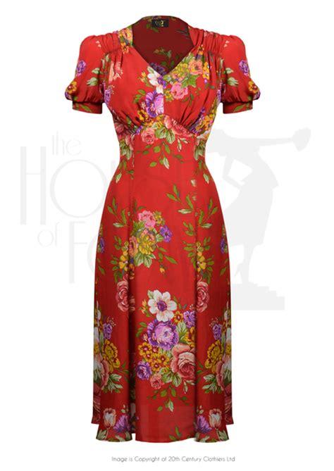 dance dresses of the 1940s ehow uk 1940s perfect tea dance dress in crimson dreams