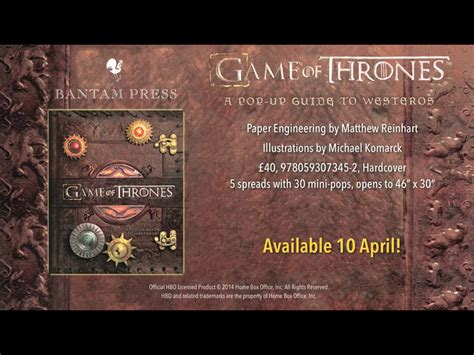 game of thrones a 0593073452 game of thrones a pop up guide to westeros amazon co uk matthew reinhart 9780593073452 books