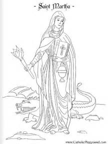 saint martha coloring page july 29th catholic playground