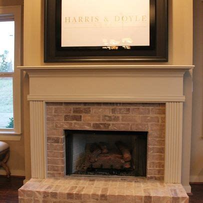 houzz brick fireplaces traditional   Brick Fireplace