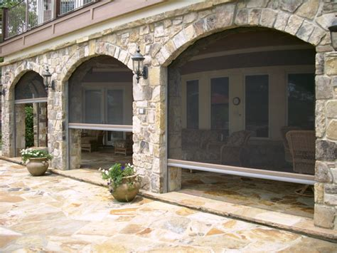Patio Covers With Arches Phantom Retractable Screens In Archway