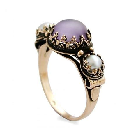 purple gold ring handmade gold ring matte