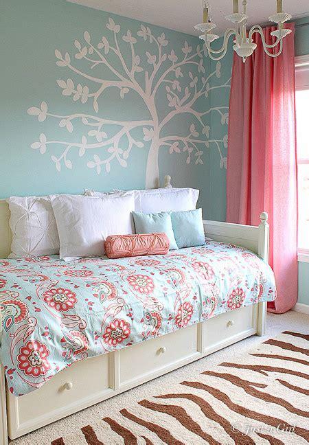 light blue and coral bedroom zebra print decor in kids rooms design dazzle