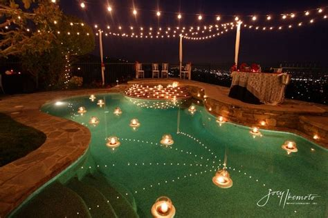 floating pool lights for wedding pretty pool settings get the glass vases that float in