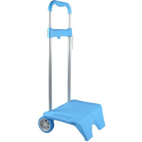 carrello porta zaino carrello porta zaino azzurro per la scuola manico