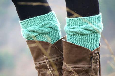 knit cuffs knitted boot cuff mint aqua from emofofashion on
