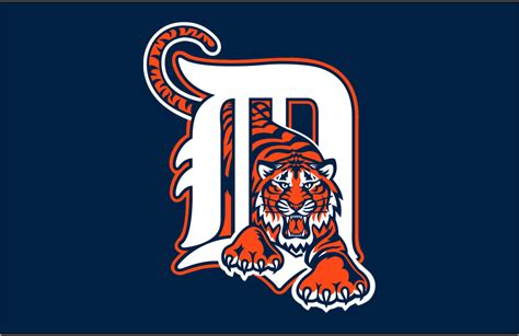 Kaos Baseball Detroit Tiger Logo 3 detroit tigers 1995 1997 cap logo decal sticker cad 1