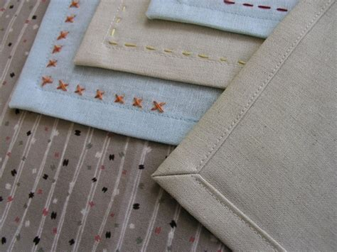 Handmade Napkins - tuesday tute simple embroidered handmade napkins