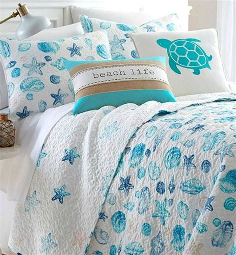 Beachy Quilt Sets by Beachy Sea Shell Quilt Set Currently On Sale 8 26 Http