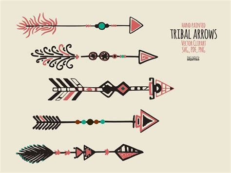 tribal spear tattoo svg arrows 45 tribal arrows curved painted spear