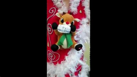 light up animated shivering rudolph the reindeer singing