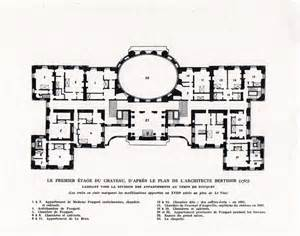 chateau floor plans chateau de vaux le vicomte first floor plan