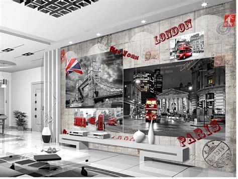 aliexpress london aliexpress com buy custom retro wallpaper mural red